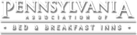 White and black text logo for Pennsylvania Association of Bed and Breakfast Inns
